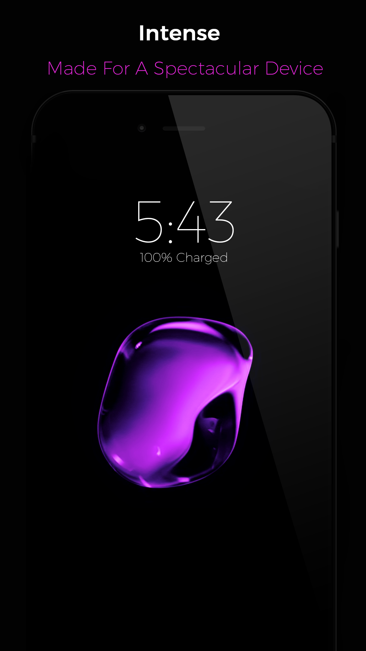 black – iphone 7 live wallpapers update – unicorn apps