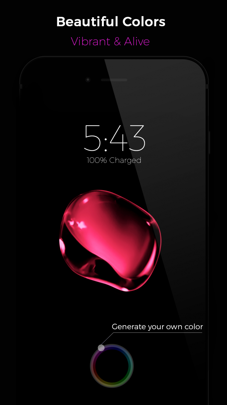 Black – iPhone 7 Live Wallpapers – Generate your own color