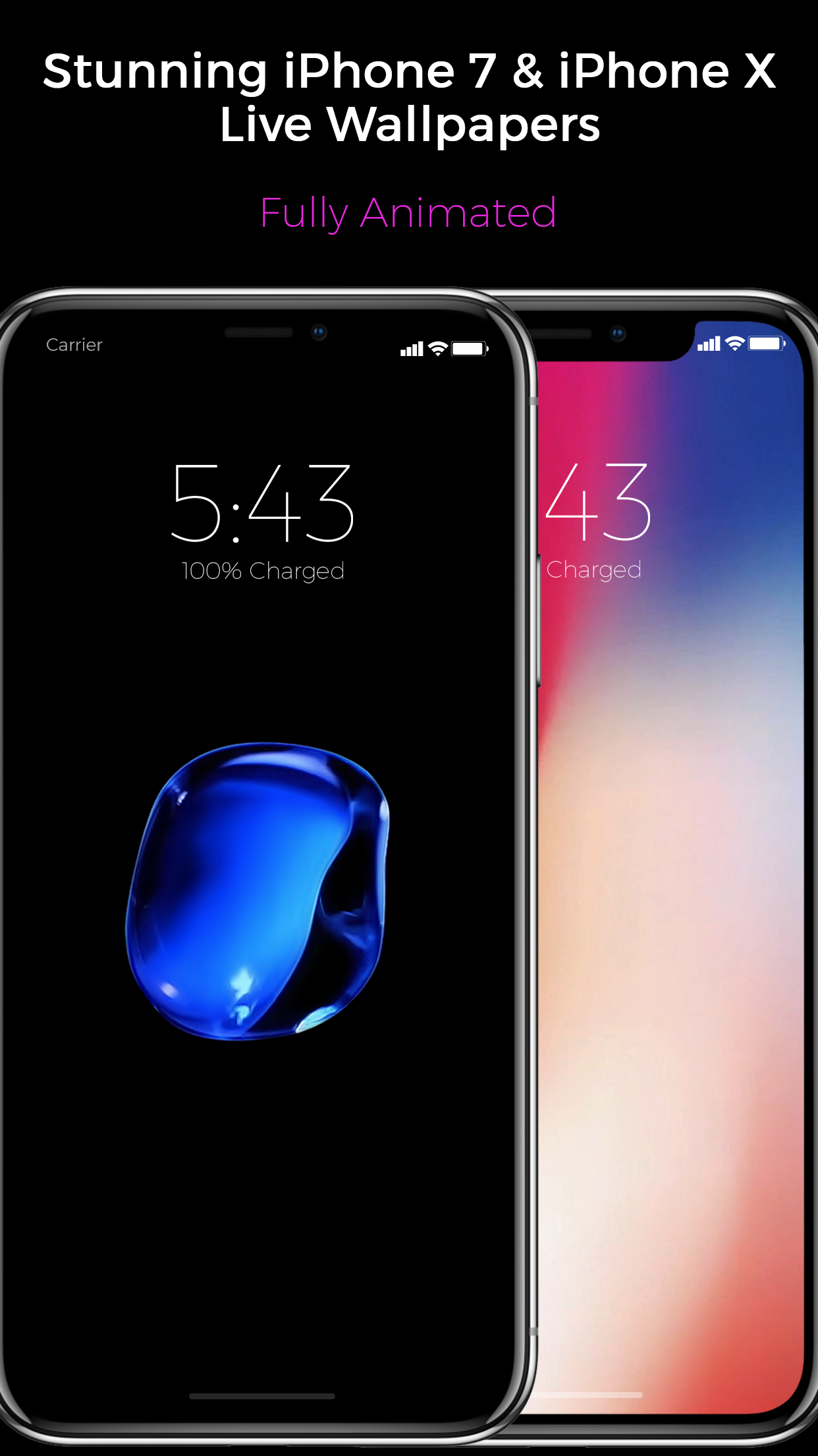 Iphone X Live Wallpapers On Any Iphone Unicorn Apps